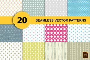Seamless vector patterns(20 eps,png)