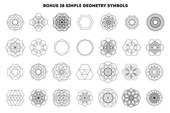 45 sacred geometry signs icons creative market