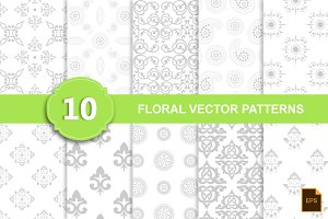 10 Floral Vector Patterns