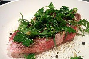 Pork with fresh herbs