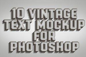 10 Vintage Text Style Mock-ups