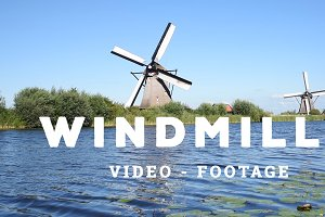 Windmills and Water Flowing