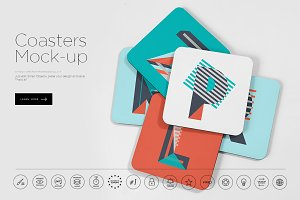 Coasters Mockup