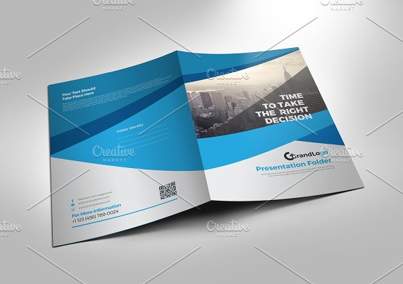 Presentation folder template stationery templates creative market presentation folder template stationery accmission Images