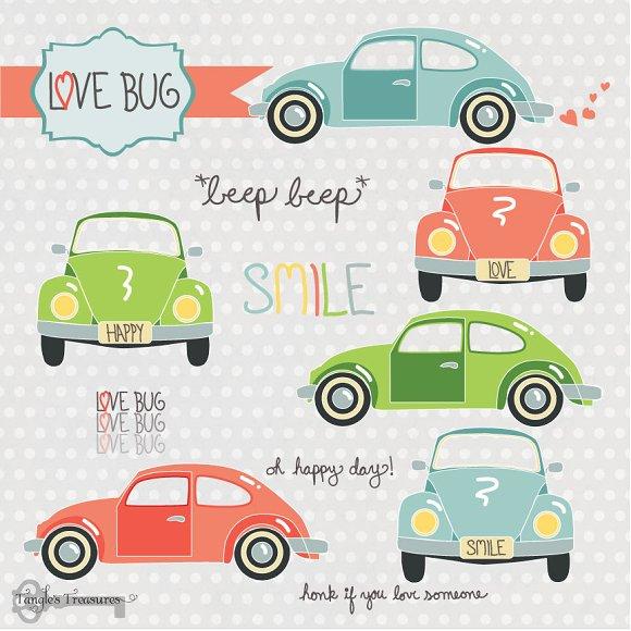 Love Bugs clipart set