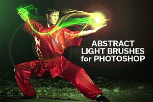 Abstract Light Brushes for Photoshop