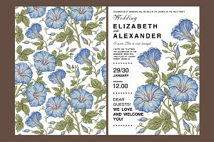 Wedding Flowers Petunia Card Frame