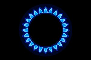 Burner Gas Ring with Blue Flame
