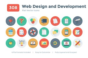 308 Web Design and Development Icons