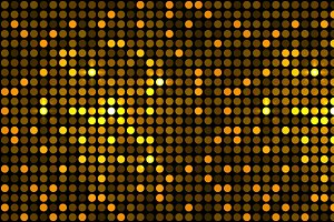 Golden Dots Disco Background