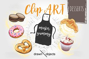 Dessert Hand drawn Vector set