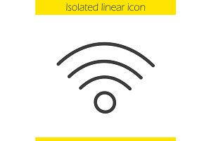 Wi fi signal icon. Vector