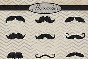 Mustaches digital clipart