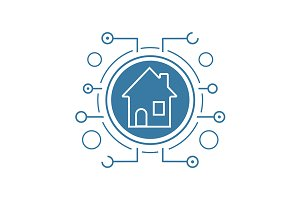 Smart house icon. Vector