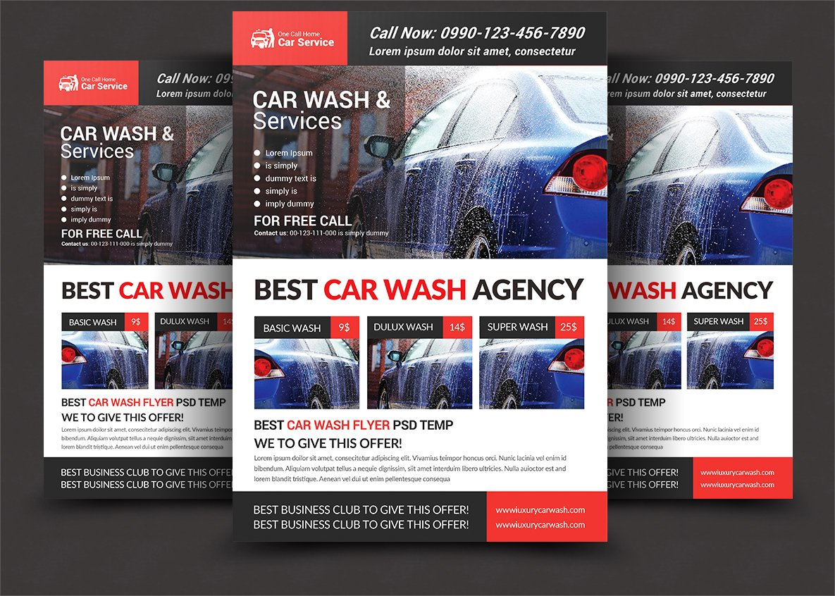 Car Wash Flyer Photos Graphics Fonts Themes Templates Creative