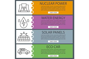 Eco energy banner templates. Vector