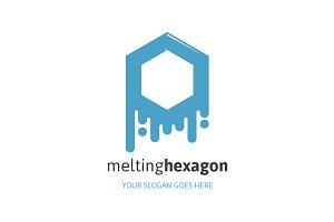 Melting Hexagon Logo