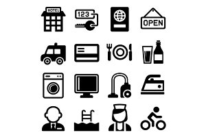 Hotel and Services Icons Set