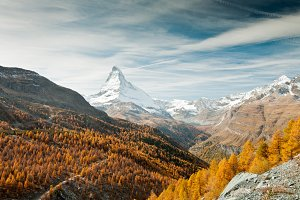 Autumn Matterhorn peak, Switzerland