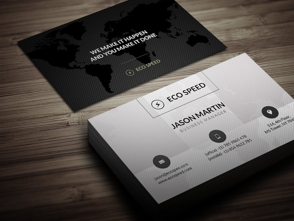 Creative world map business card business card templates creative world map business card business card templates creative market reheart Image collections