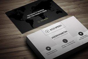 creative World Map Business Card