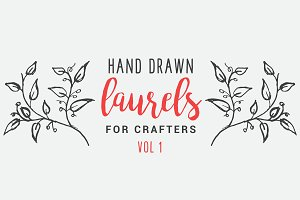 Hand Drawn Laurels for Crafters