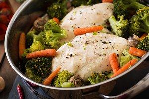 Chicken fillet with vegetables