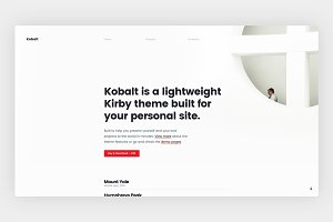 Kobalt Theme - Kirby CMS