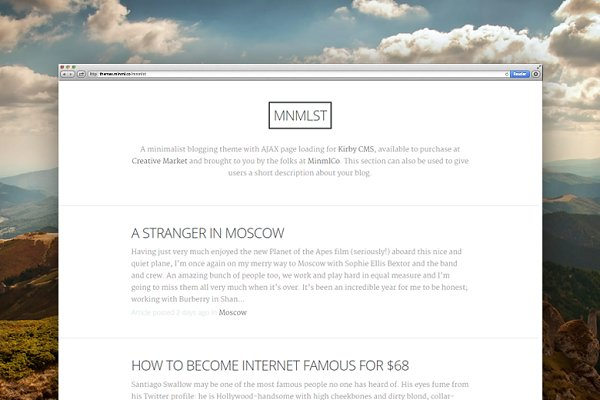 WordPress Minimal Themes: Chris M - MNMLST Theme