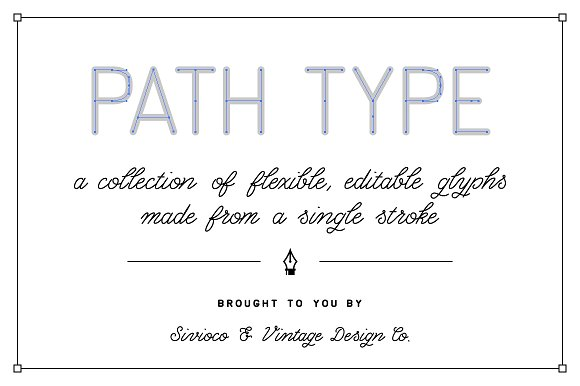 Path Type – Single Stroke Glyph Set