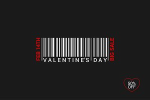 Valentines Day barcode