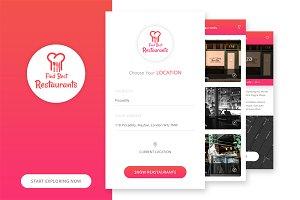 Find Restaurant UI