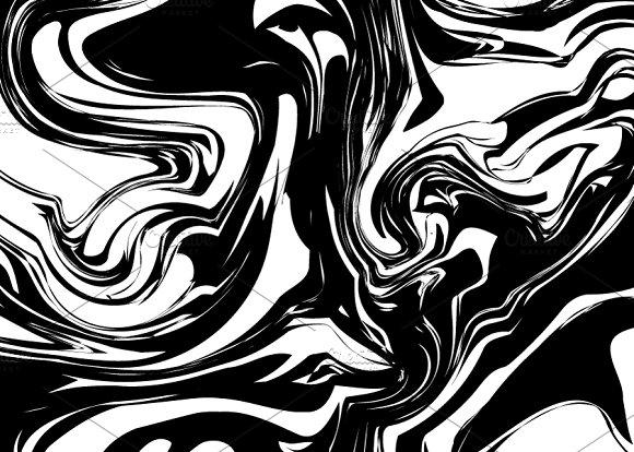 Black Ink Splash With Swirls