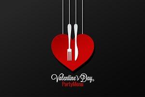 Valentines Day Menu Background.