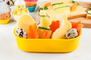 Funny lunch for children at Easter