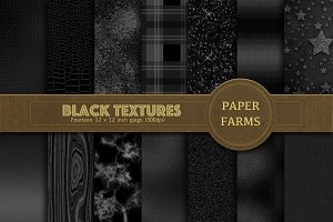 Black Textures digital paper