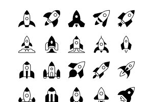 Rockets Solid Icons