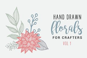 Hand Drawn Florals for Crafters