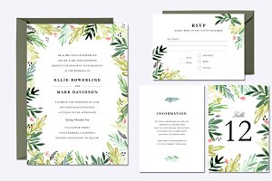 Watercolor Meadow Wedding Suite