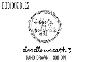 Hand Drawn Doodle Wreath