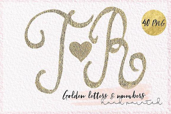 Alphabet Letters Golden Monograme