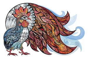Vector Rooster Illustration