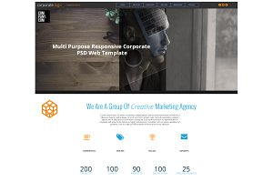 Corporate psd landing page template