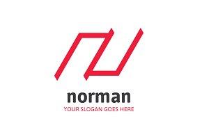 Norman Letter N Logo