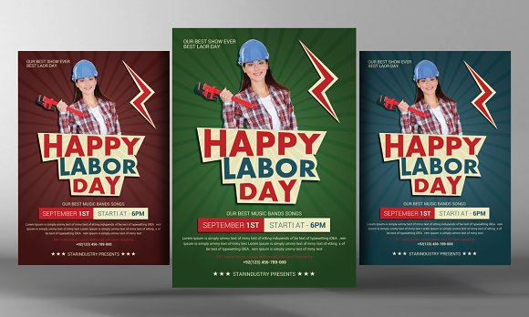 Labour Day Flyer Template Flyer Templates on Creative Market – Labour Day Flyer Template