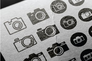Photography Camera Icon Symbol Set