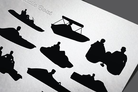 Paddle Boat Recreation Silhouette
