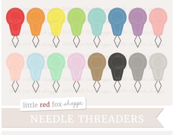 Needle Threader Clipart in Illustrations