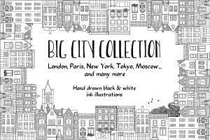 Big Hand Drawn City Collection