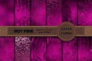 Hot Pink digital paper